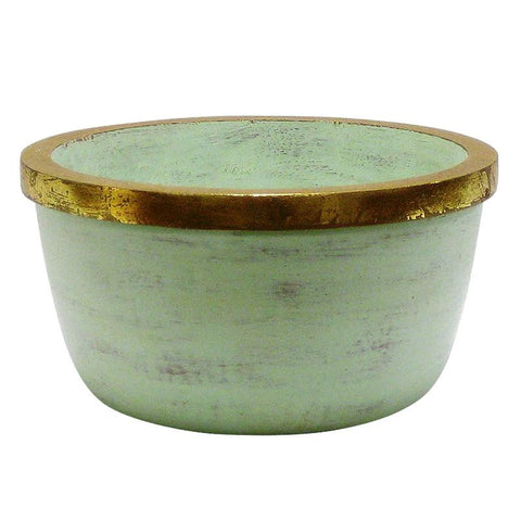 Image of Multicolor Wooden Round Container Grey Green ~ Small - Cece & Me - Home and Gifts