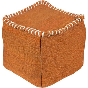 Woodstock Pouf ~ Burnt Orange - Cece & Me - Home and Gifts
