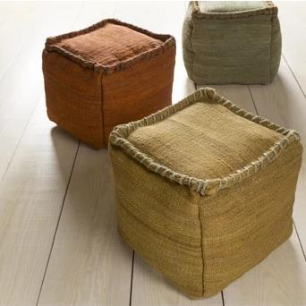 Woodstock Pouf ~ Mustard - Cece & Me - Home and Gifts