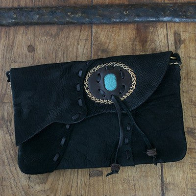 Suede Envelope Clutch Bag with Stone - Cece & Me - Home and Gifts
