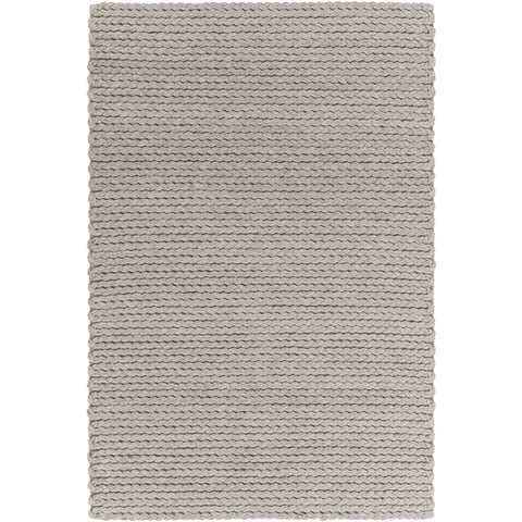 Image of Yukon Wool Rug ~ Light Gray - Cece & Me - Home and Gifts