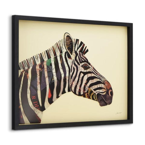 Image of Zebra ~ Art Collage - Cece & Me - Home and Gifts