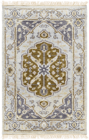 Image of Zeus Rug ~ Cream/Light Gray/Mauve - Cece & Me - Home and Gifts