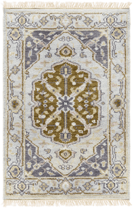 Zeus Rug ~ Cream/Light Gray/Mauve - Cece & Me - Home and Gifts