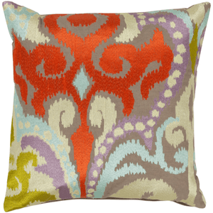Ara Pillow ~ Bright Orange, Butter, Pale Blue, Lilac, Lime, Taupe - Cece & Me - Home and Gifts