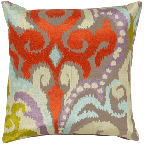 Image of Ara Pillow ~ Bright Orange, Butter, Pale Blue, Lilac, Lime, Taupe - Cece & Me - Home and Gifts