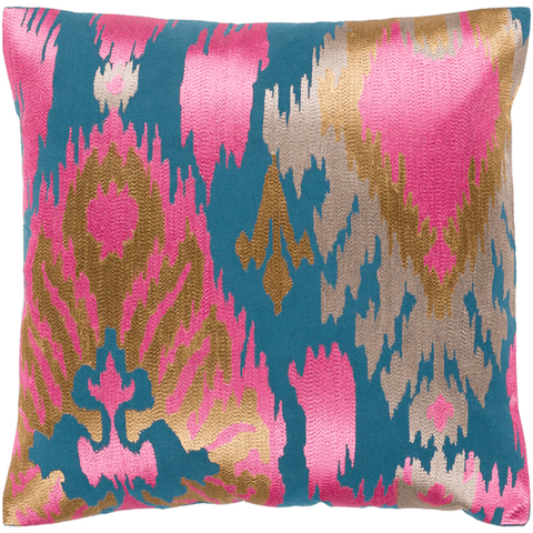 Ara Pillow ~ Bright Pink, Tan, Taupe, Teal - Cece & Me - Home and Gifts