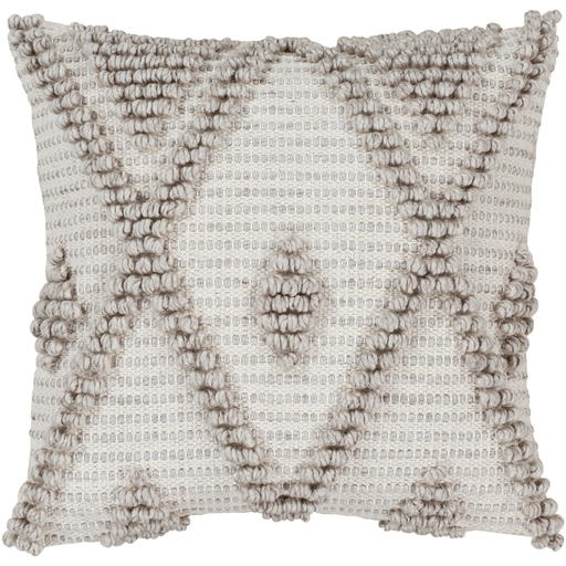 Anders  Pillow ~ Light Gray, Khaki