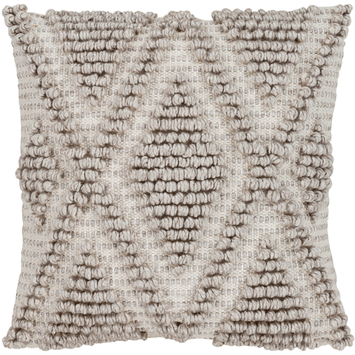 Anders  Pillow ~ Charcoal, Beige, Khaki
