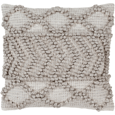 Anders  Pillow ~ Light Gray, Khaki - Cece & Me - Home and Gifts