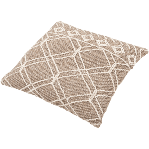 "Anniken Pillow 30"" ~ Taupe, Cream - Cece & Me - Home and Gifts"