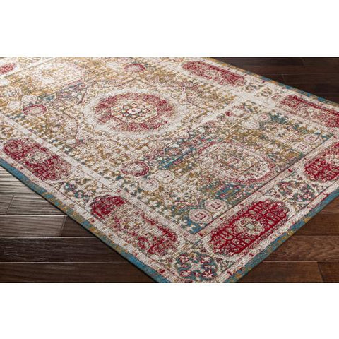 Amsterdam Rug ~ Bright Red & Beige - Cece & Me - Home and Gifts