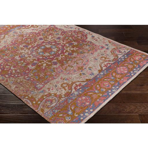 Amsterdam Rug ~ Bright Pink, Ivory, Camel - Cece & Me - Home and Gifts
