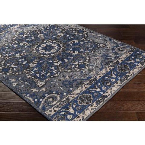Amsterdam Rug ~ Navy, Charcoal, Medium Gray - Cece & Me - Home and Gifts