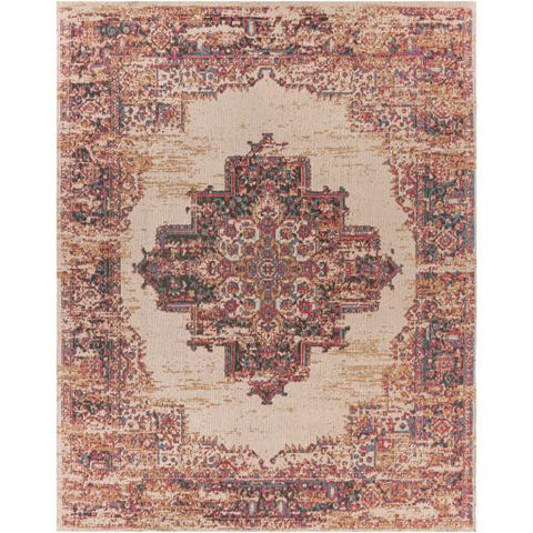 Image of Amsterdam Rug ~ Bright Red, Ivory, Teal - Cece & Me - Home and Gifts