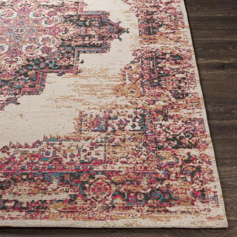 Amsterdam Rug ~ Bright Red, Ivory, Teal - Cece & Me - Home and Gifts