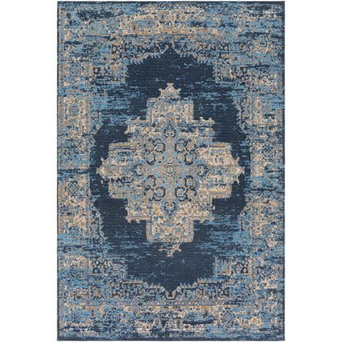 Amsterdam Rug ~ Beige, Tan, Sky Blue - Cece & Me - Home and Gifts