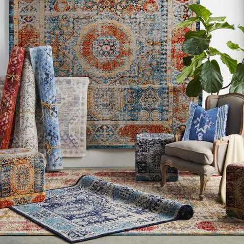 Amsterdam Rug ~ Bright Blue & Saffron - Cece & Me - Home and Gifts