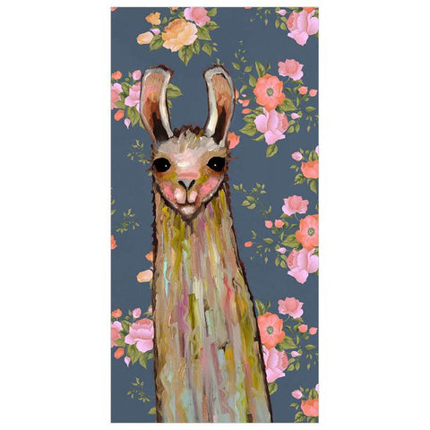Image of Baby Llama - Floral Wall Art - Cece & Me - Home and Gifts