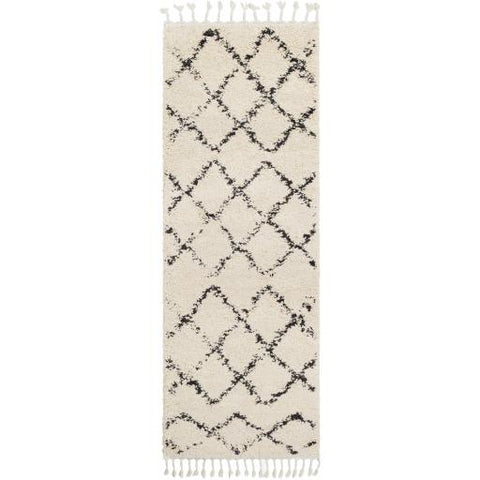 Berber Shag Rug ~ Charcoal & Beige - Cece & Me - Home and Gifts