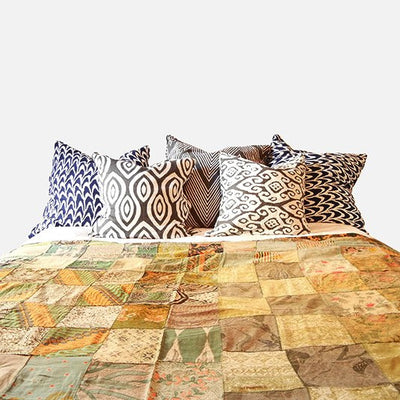 Batiked Throw/Bedspreads Coverlets ~ Green, King - Cece & Me - Home and Gifts