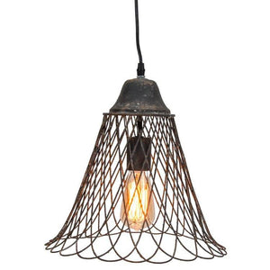 Wire Bell Shape Pendant Lamp - Cece & Me - Home and Gifts