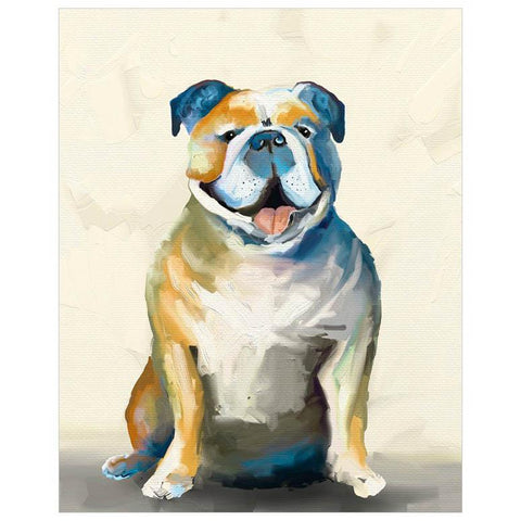 Image of Best Friend - Bulldog On Cream Wall Art - Cece & Me - Home and Gifts