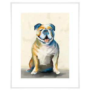 Best Friend - Bulldog On Cream Wall Art - Cece & Me - Home and Gifts