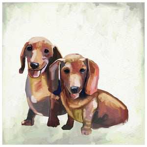 Best Friend - Dachshund Duo Wall Art