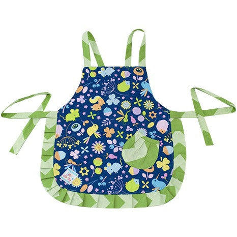 Image of Cute Blue & Green Kids Apron - Cece & Me - Home and Gifts