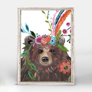 Boho Bear Mini Framed Canvas - Cece & Me - Home and Gifts