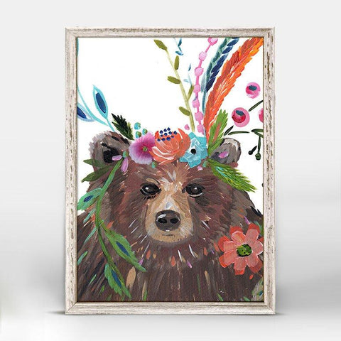 Image of Boho Bear Mini Framed Canvas - Cece & Me - Home and Gifts