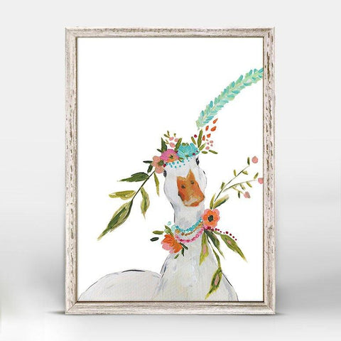 Boho Duck Mini Framed Canvas - Cece & Me - Home and Gifts