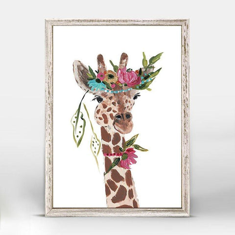 Boho Giraffe Mini Framed Canvas - Cece & Me - Home and Gifts