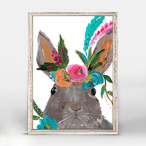 Boho Hare Mini Framed Canvas - Cece & Me - Home and Gifts