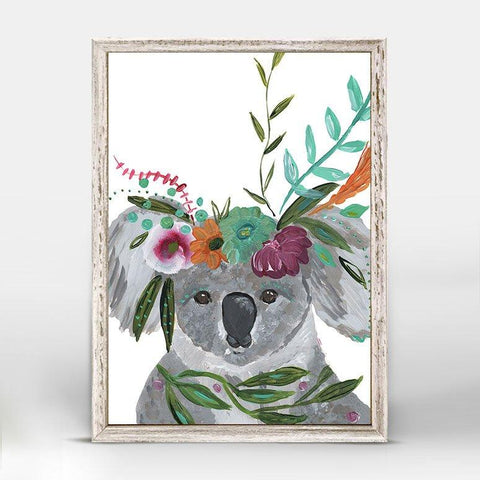 Boho Koala Mini Framed Canvas - Cece & Me - Home and Gifts
