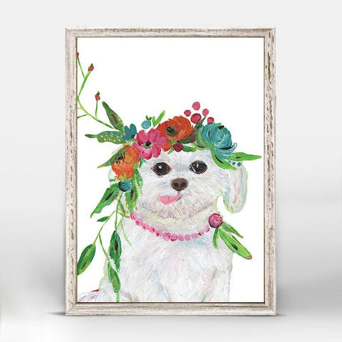 Boho Maltese Mini Framed Canvas - Cece & Me - Home and Gifts