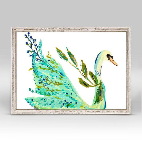 Image of Boho Swan Mini Framed Canvas - Cece & Me - Home and Gifts