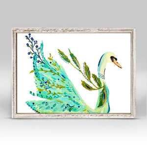 Boho Swan Mini Framed Canvas - Cece & Me - Home and Gifts