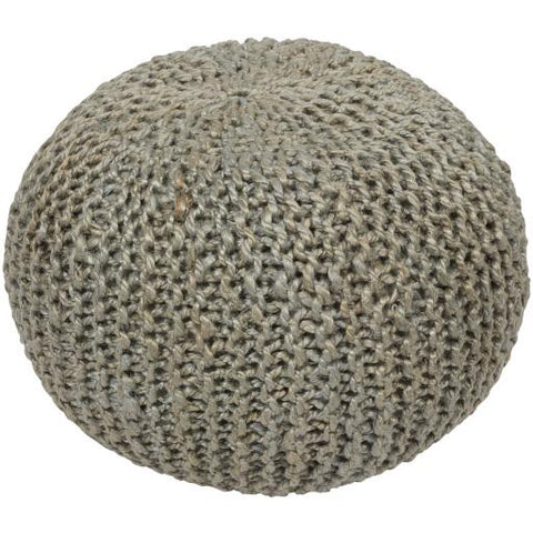 Bermuda Pouf ~ Light Gray - Cece & Me - Home and Gifts