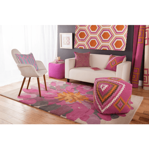 Bombay Rug ~ Fuschia - Cece & Me - Home and Gifts