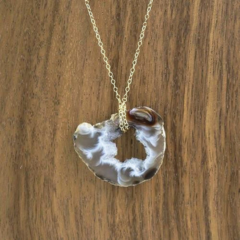 Image of Stunning Cut Druzy Necklace - Cece & Me - Home and Gifts