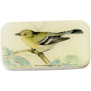 Image of Vintage Yellow Bird Pill Box, Slider Tin, Mint Tin - Small - Cece & Me - Home and Gifts