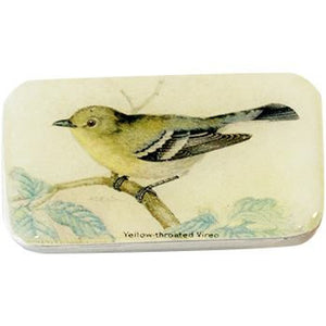 Vintage Yellow Bird Pill Box, Slider Tin, Mint Tin - Small - Cece & Me - Home and Gifts