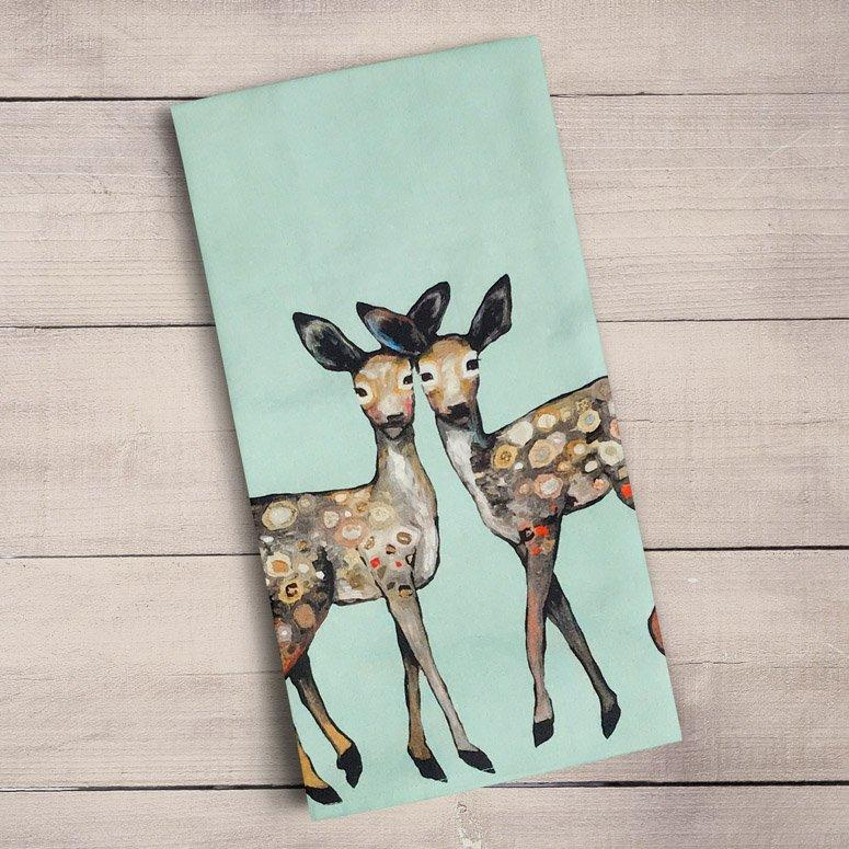 Dancing Fawns Tea Towels - Cece & Me - Home and Gifts