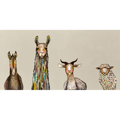 Donkey, Llama, Goat, Sheep Giclee Canvas ~ Cream - Cece & Me - Home and Gifts