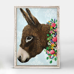 Donkey Next Door Mini Framed Canvas - Cece & Me - Home and Gifts