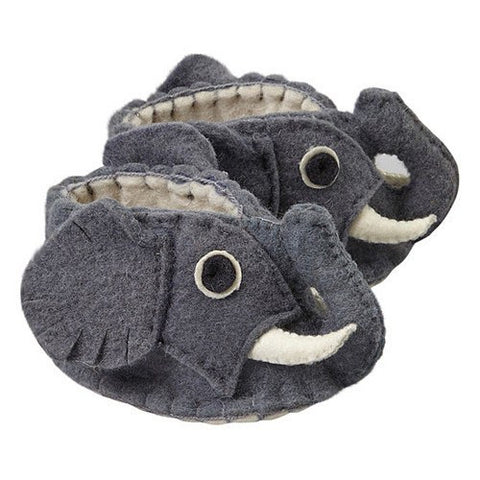 Baby Booties (6-12 mo.) ~ Elephant - Cece & Me - Home and Gifts