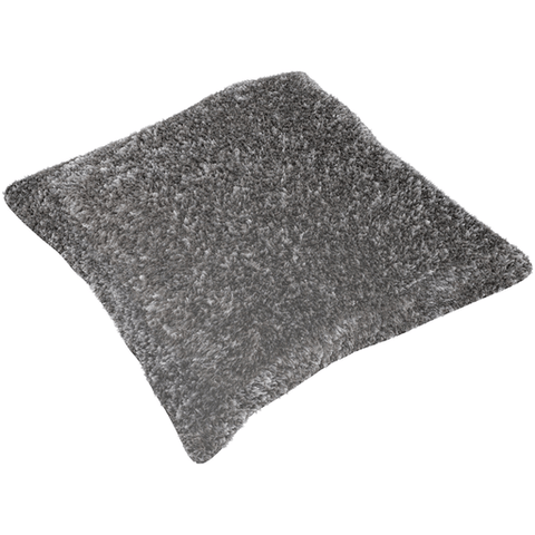 Flokati Pillow ~ Medium Gray, White, Black - Cece & Me - Home and Gifts