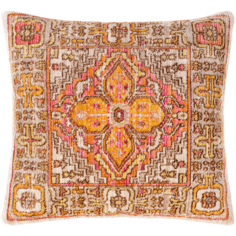Image of Germili Pillow ~ Beige, Coral, Dark Brown - Cece & Me - Home and Gifts